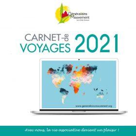une carnet voyages 2021